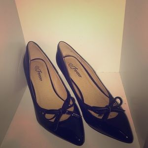 OBO- Black Bow Kitten Heels
